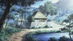 A tranquil village, probably with a mushi problem.